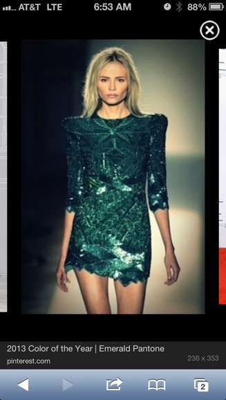 dress runway gorgeous emerald green find