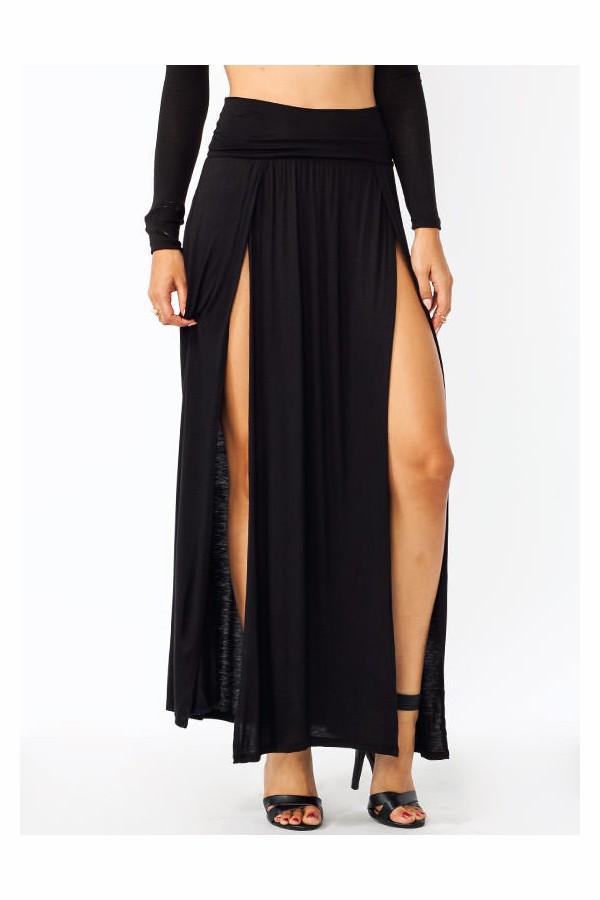 skirt black maxi skirt