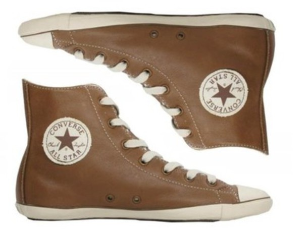 15316d374ada shoes converse chuck taylor all stars brown brown shoes leather high top  converse