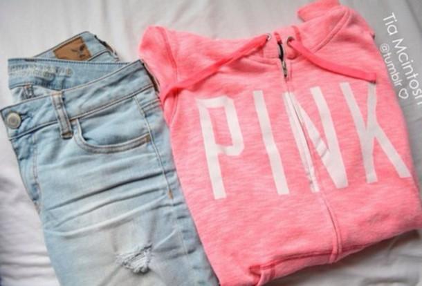 jacket vs hoodie coat zip pink by victorias secret vs angel