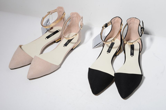 pointed flats pointed shoes shoes neutral beige black pointed flat shoes