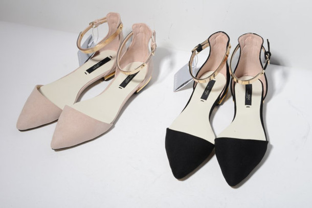 e17f22bf9 pointed flats pointed shoes shoes neutral beige black pointed flat shoes