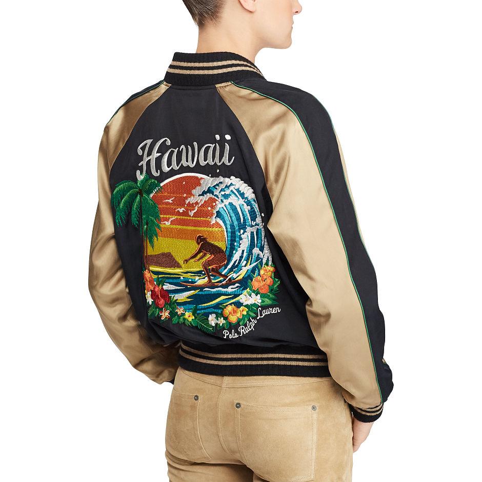 71373c2f Polo Ralph Lauren - Hawaii Satin Bomber Jacket
