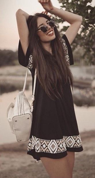 dress purse and sunglasses