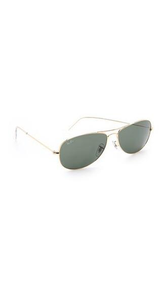 sunglasses aviator sunglasses gold green