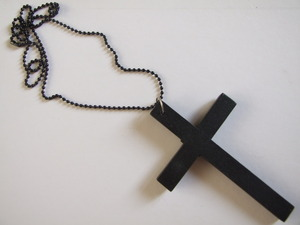 Bad to the Bone Clothing — Black Cross Necklace