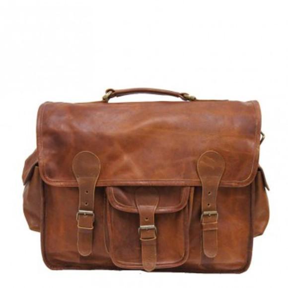 bag leather bag briefcase satchel bag ruavintage