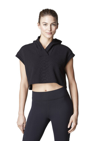 jacket crop michi hoodie black cover up bikiniluxe