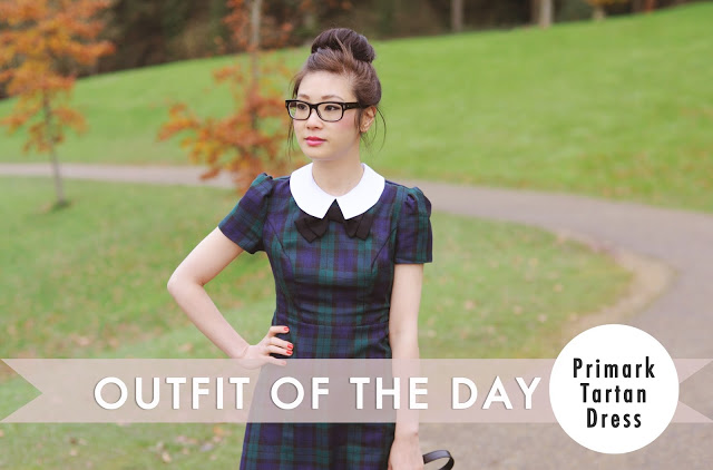 OOTD Video: Green Tartan Dress | Temporary:Secretary UK Fashion Blog | Style Blogger: OOTD Video: Green Tartan Dress