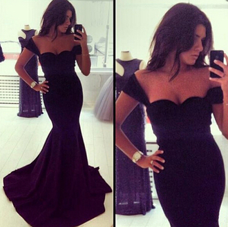 black dress prom dress sexy dress gown halter dress party dress fishtail dress evening dress maxi dress