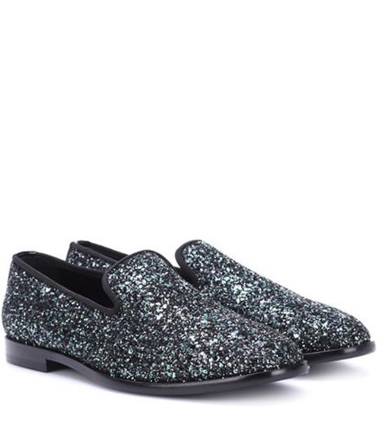 Jimmy Choo glitter loafers metallic shoes