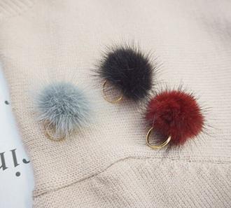 jewels fluffy jewelry fur keychain fur keychain
