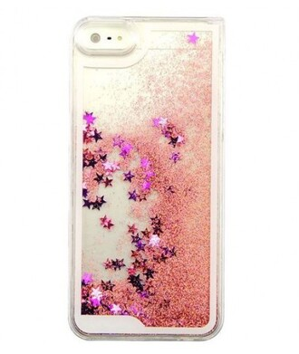 phone cover iphone case stars glitter cool pink trendy transparent sparkle it girl shop