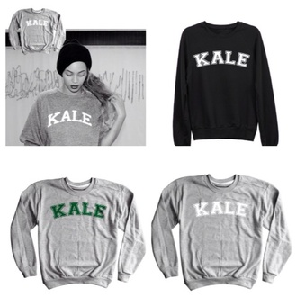 beyoncé sweater kale oversized sweater grey graphic tees