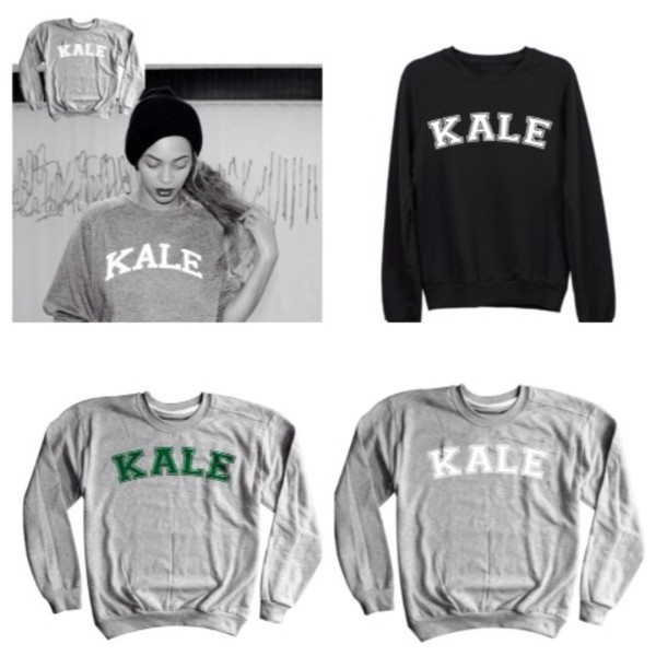 sweater beyonce kale sweatshirt oversized sweater grey graphic tee