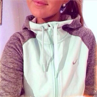 mint jacket gray nike sweater