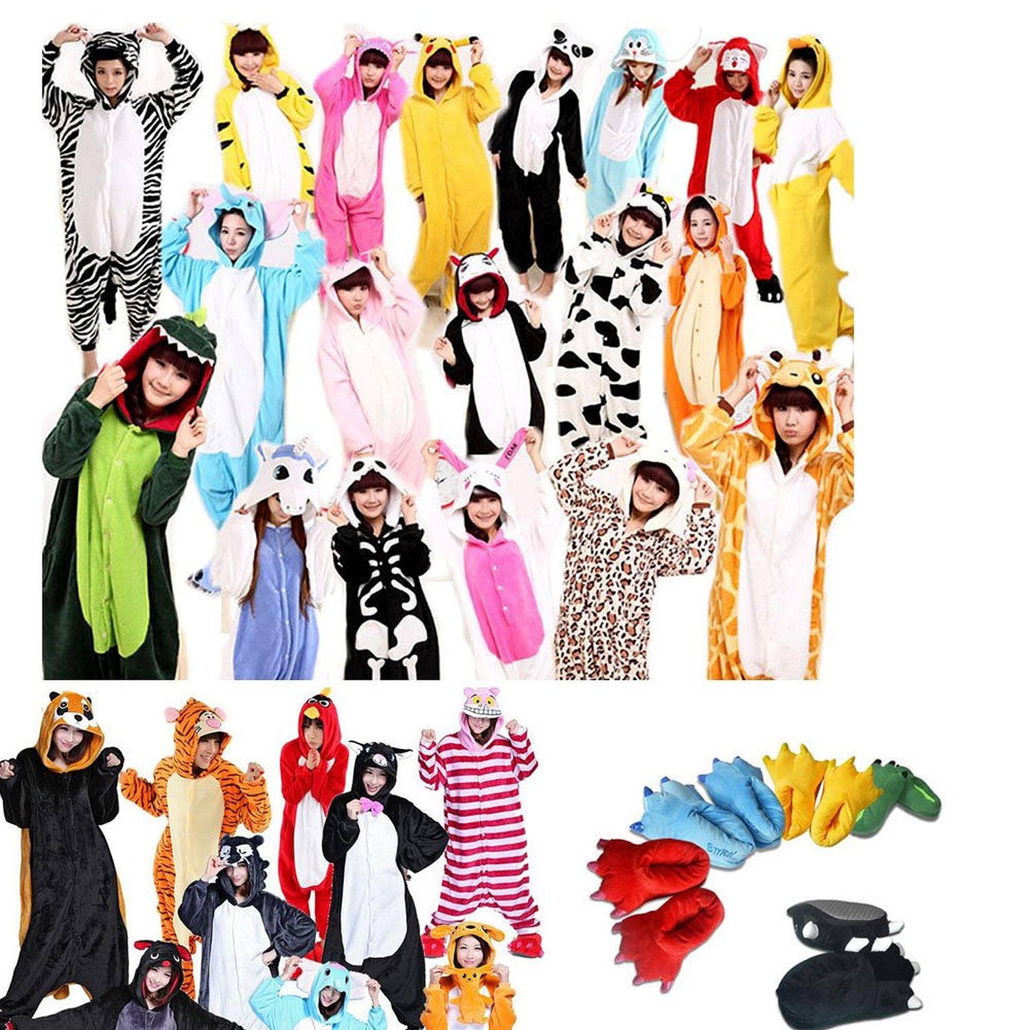 Amazon.com: Janecrafts New Kigurumi Pajamas Anime Cosplay Costume Unisex Adult Onesie Dress: Clothing