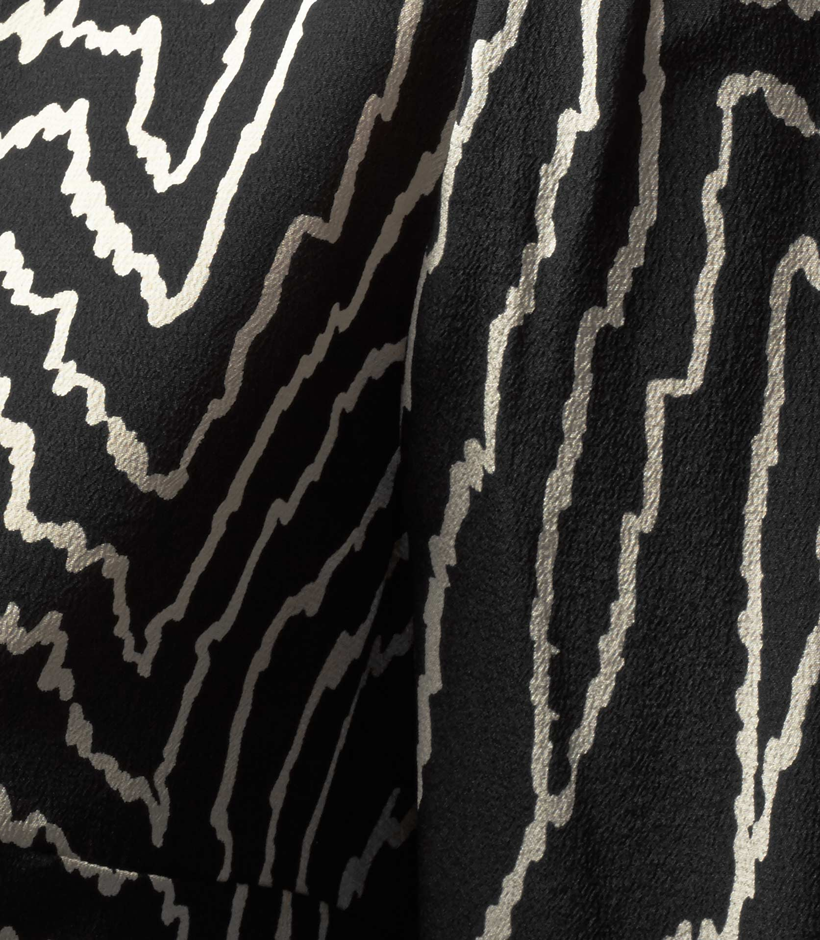 Marion Black Graphic Print Shirt - REISS