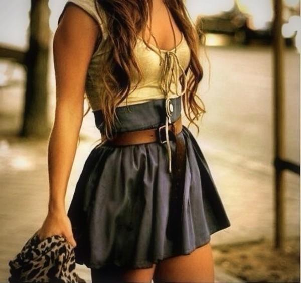 dress hipster brown skirt