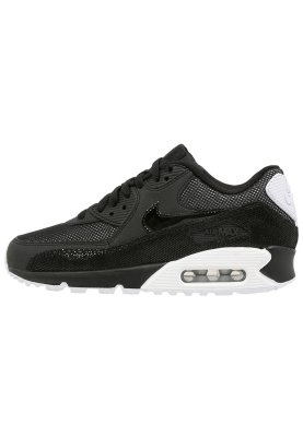 44c6148725d4 Nike Sportswear AIR MAX 90 PREMIUM - Trainers - black white ...