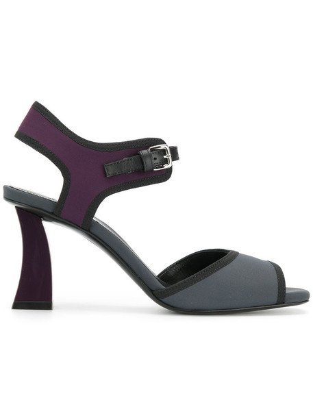 MARNI women sandals leather grey shoes