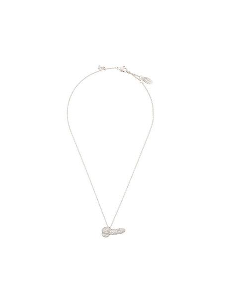 Vivienne Westwood women necklace pendant grey metallic jewels
