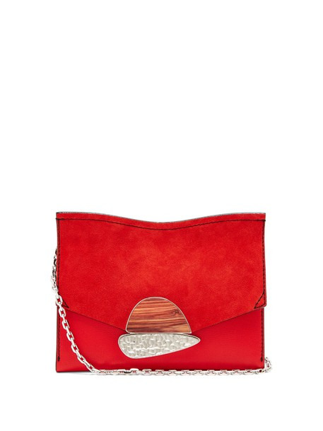 Proenza Schouler leather clutch clutch leather suede red bag