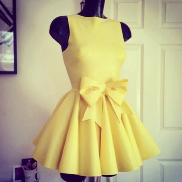 dress yellow dress yellow lemon pastel