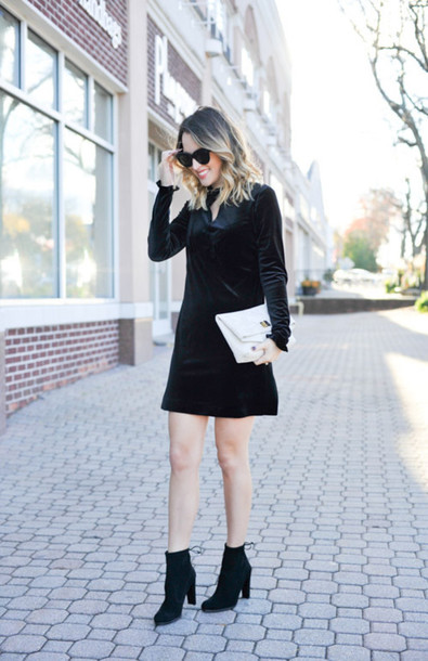 party dress with ankle boots