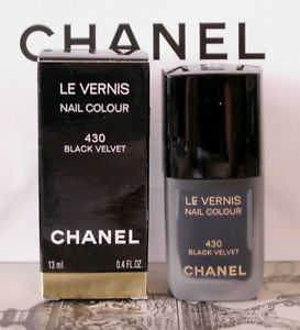 Chanel LE Vernis 430 Black Velvet Goth Nail Colour Polish Orient Extreme Collect | eBay