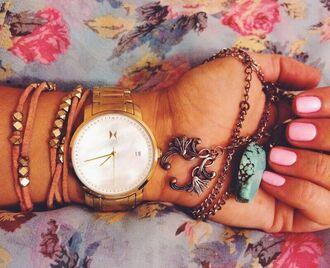 jewels bracelets mvmt watch leather