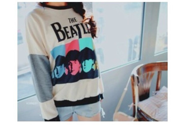 sweater crewneck fabfour beatles vintage the beatles