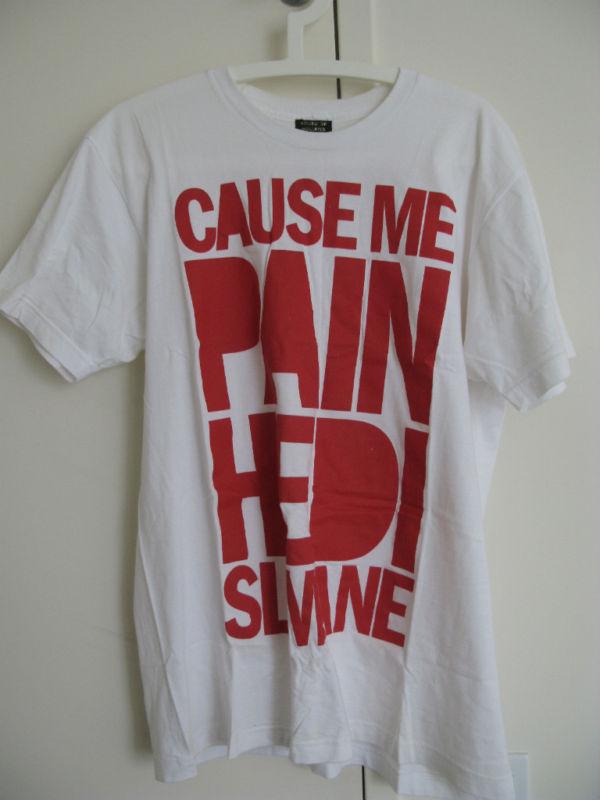 House of holland white t shirt hedi slimane l