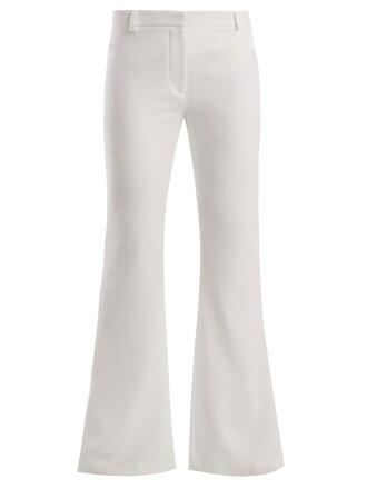 flare wool cream pants
