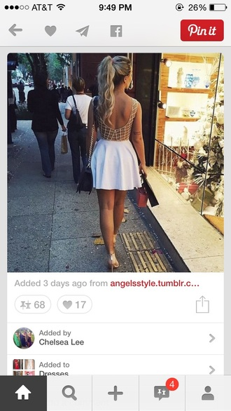 dress skirt tumblr outfit instagram fashion nude high heels open back prom dress backless dress white white dress tumblr shirt short dress cocktail dresses
