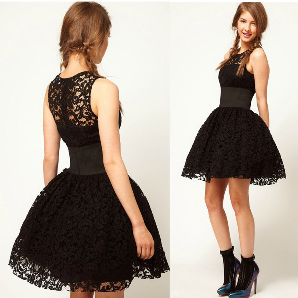 Free Shipping  2014 new fashion elegant thin black lace tutu dress -in Dresses from Apparel & Accessories on Aliexpress.com