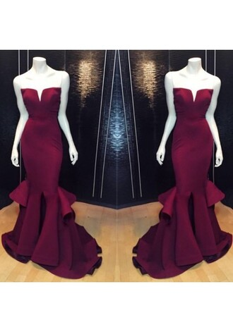 dress long burgundy dress burgundy sexy dress prom gowns mermaid prom dress burgundy dress burgundy prom dress burgundy evening dress burgundy prom dress with open back