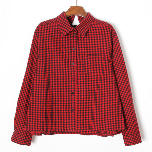 Plaid red top