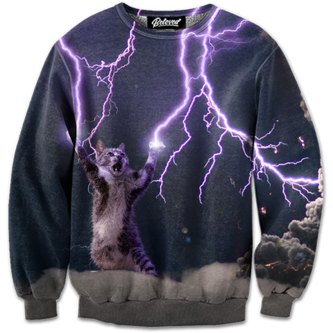 Lightning Cat Sweatshirt