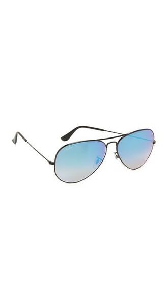 oversized shiny sunglasses aviator sunglasses blue black
