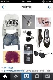 shirt,vans,black,crop tops,shorts,jewerly,jewels