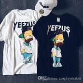 shirt,kanye west,bart simpson,yeezus,t-shirt