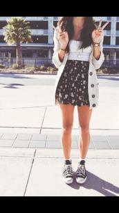 skirt,jacket,school clothes,dress,cardigan