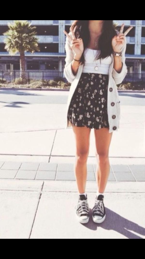 skirt jacket school clothes dress cardigan