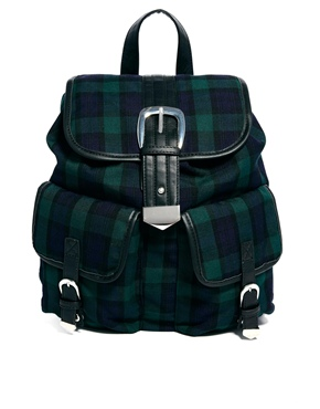 ASOS | ASOS Backpack In Tartan at ASOS