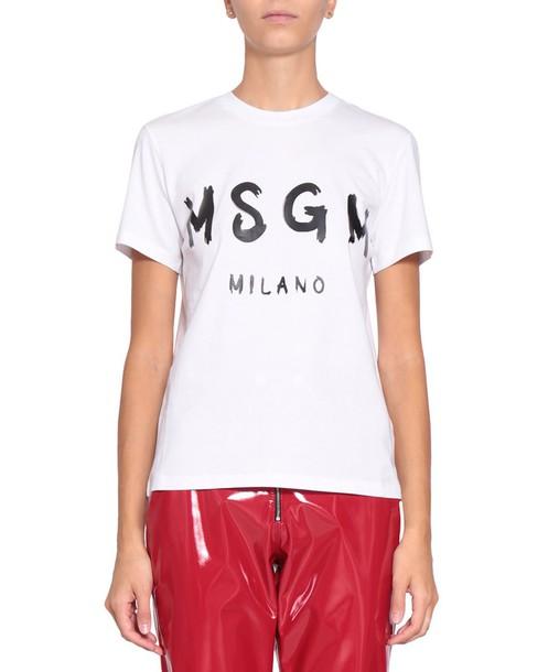 MSGM t-shirt shirt cotton t-shirt t-shirt cotton top