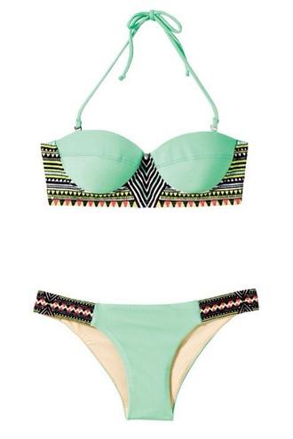 swimwear mint cute aztec swimwear bikini