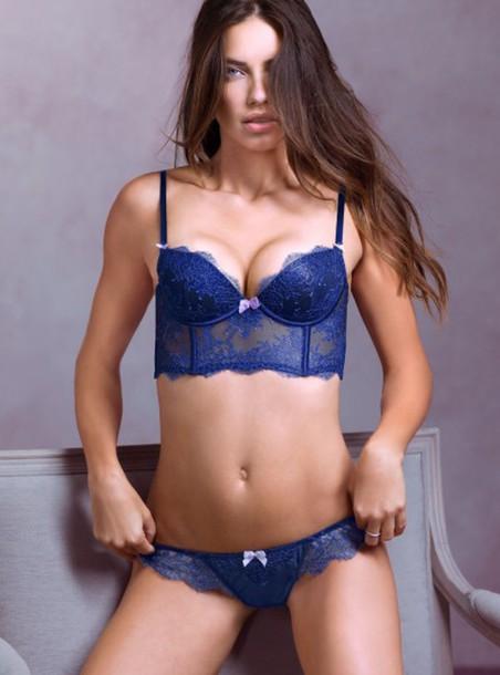 e6f0b6e9b6f9 underwear, bra, navy, victoria's secret, purple, push up bra, lace ...