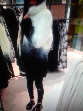 blanc et noir cardigan gilet fourrure bnw manteau twitter