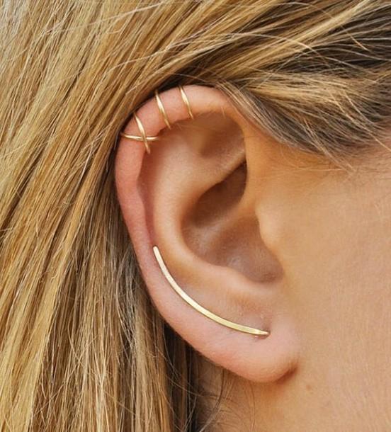 jewels gold earrings cuffs ear cuff